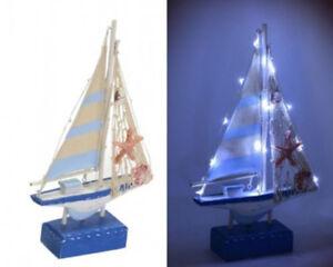 Barca legno luci led 19x5xh.31 cm decorazione arredo linea mare ebay