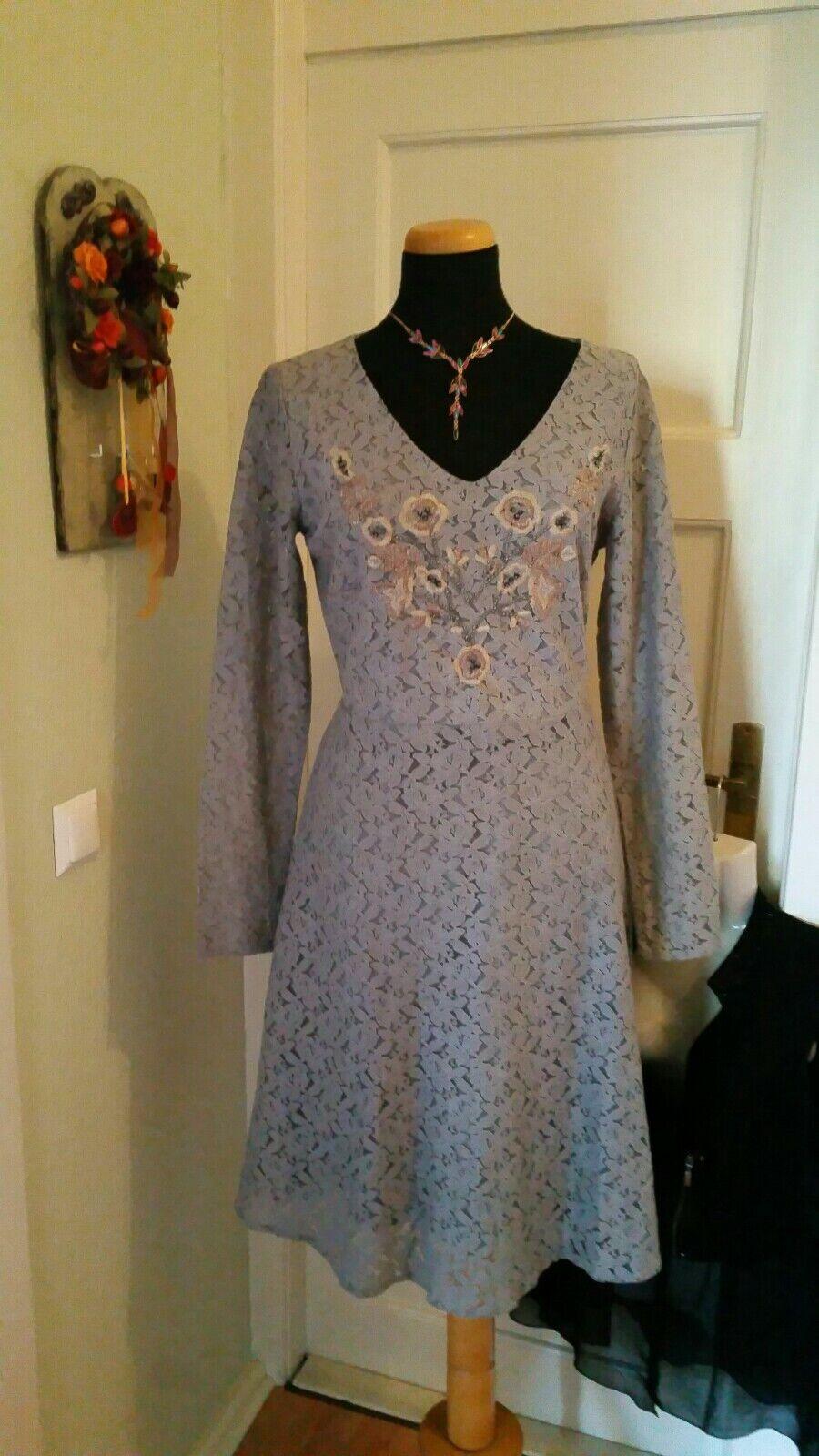 89c3ebe5456bed 38 grau mit Spitze mit perlenstickerei Kleid nplegr960-neue Kleidung