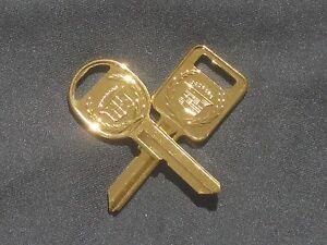 Rare-Cadillac-Gold-Key-Set-039-C-039-and-039-D-039-for-Fleetwood-Brougham-Eldo-amp-Sev