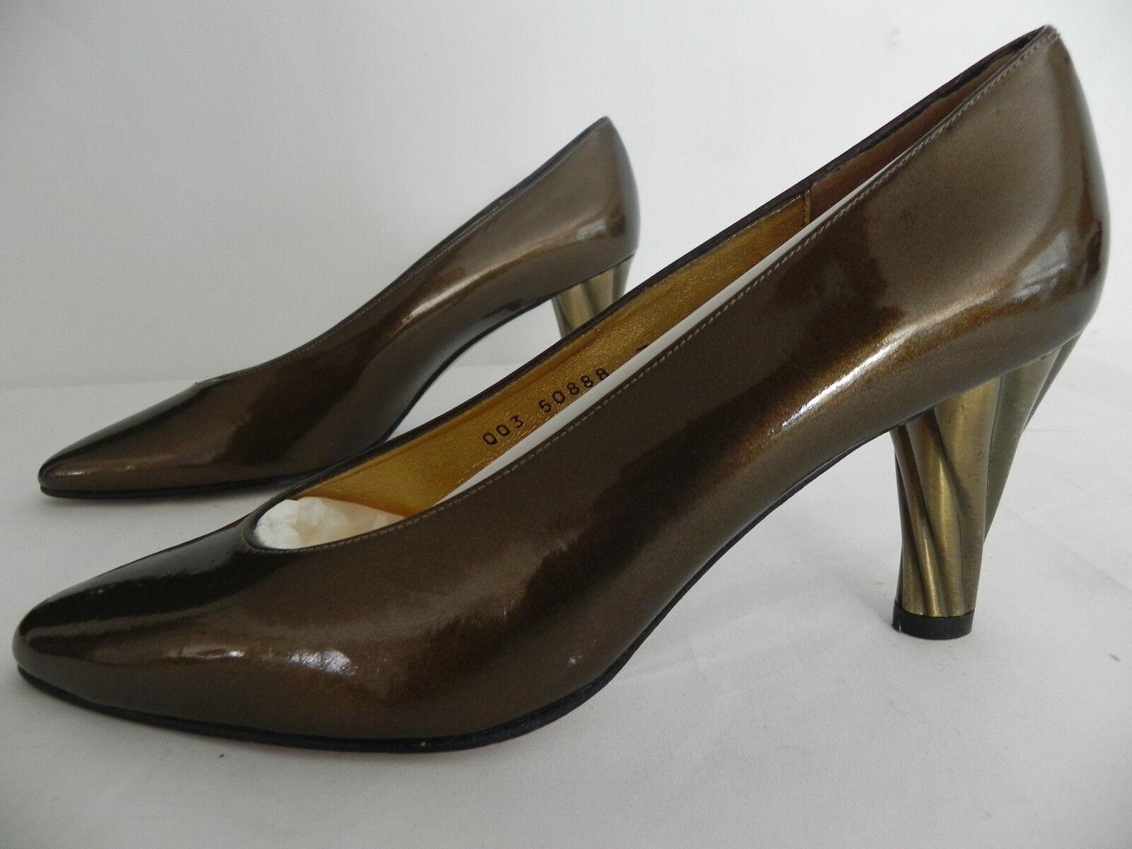 New Timothy Hitsman Heels  Pumps   US 7M   Metallic Bronze   Leather