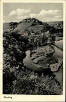 Bad Münster am Stein Rheinland-Pfalz 1957 Partie Blick auf Ebernburg Landschaft