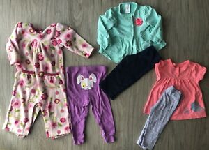 Baby Girls 9 Months And 9 12 Months Mixed Lot Carter S 6 Piece Ebay