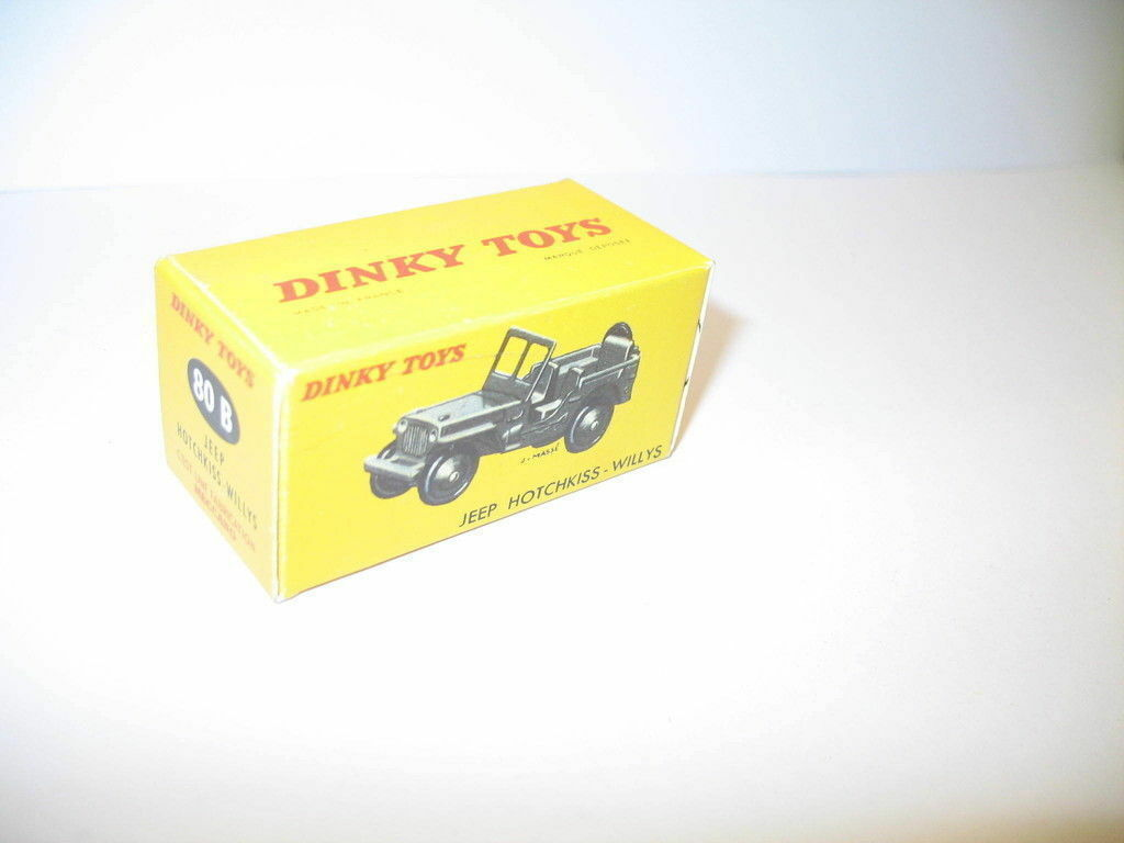 N26, Schachtel Jeep Willys 80 B Militär Dinky Toys
