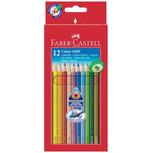 FABER-CASTELL Buntstifte Malstifte Colour GRIP 12er Kartonetui