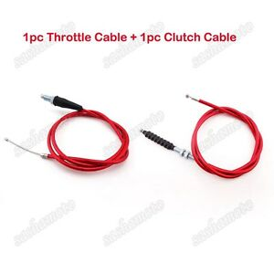 Red-Twist-Throttle-Clutch-Cable-For-Pit-Dirt-Bike-XR50-CRF50-CRF70-SSR-Thumpstar