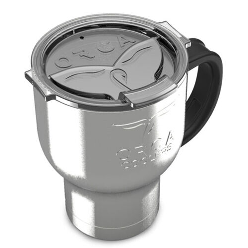 Orca Cooler 20 oz Stainless Steel Chaser Cafe w/ Handle, Spill Resistant Lid