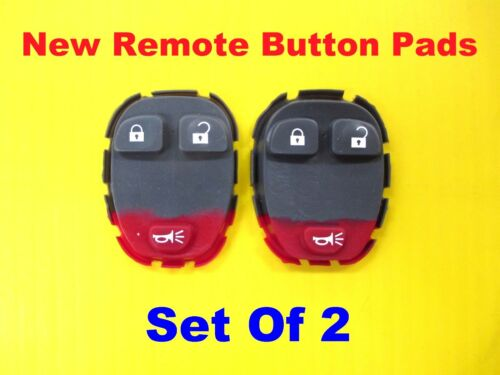 NEW Lot Set of 2 Remote Rubber Button Pads KOBGT04A 3 Buttons 15777636 2X