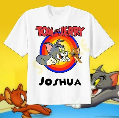 TOM AND JERRY CLASSIC PAL Kids Boys Girls Graphic Tee Shirt SM-XL Sizes 6-20