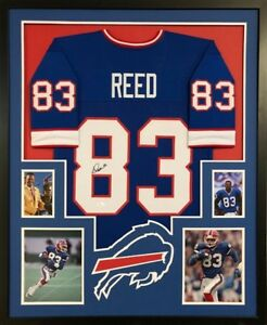a93a591f56d Image is loading Andre-Reed-Signed-Buffalo-Bills-Custom-Jersey-Framed-