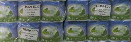 """Ecoroll 320 Hoja 2ply rollos de papel higiénico Tejido 36 Rodillo un paquete /""""compre 3 lleve 1 Gratis/'"""