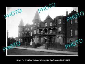 OLD-LARGE-HISTORIC-PHOTO-OF-BRAY-WICKLOW-IRELAND-THE-ESPLANADE-HOTEL-c1900