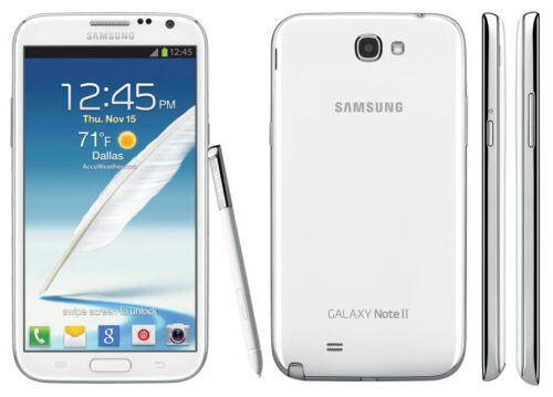1 of 1 - New Samsung Galaxy Note II N7100 Unlocked MobilePhone - 16GB 8MP - Marble White