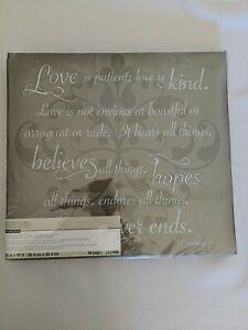 New Michael S Recollections 12x12 Love Is Patient Photo Crafts Scrapbook Wedding Ebay