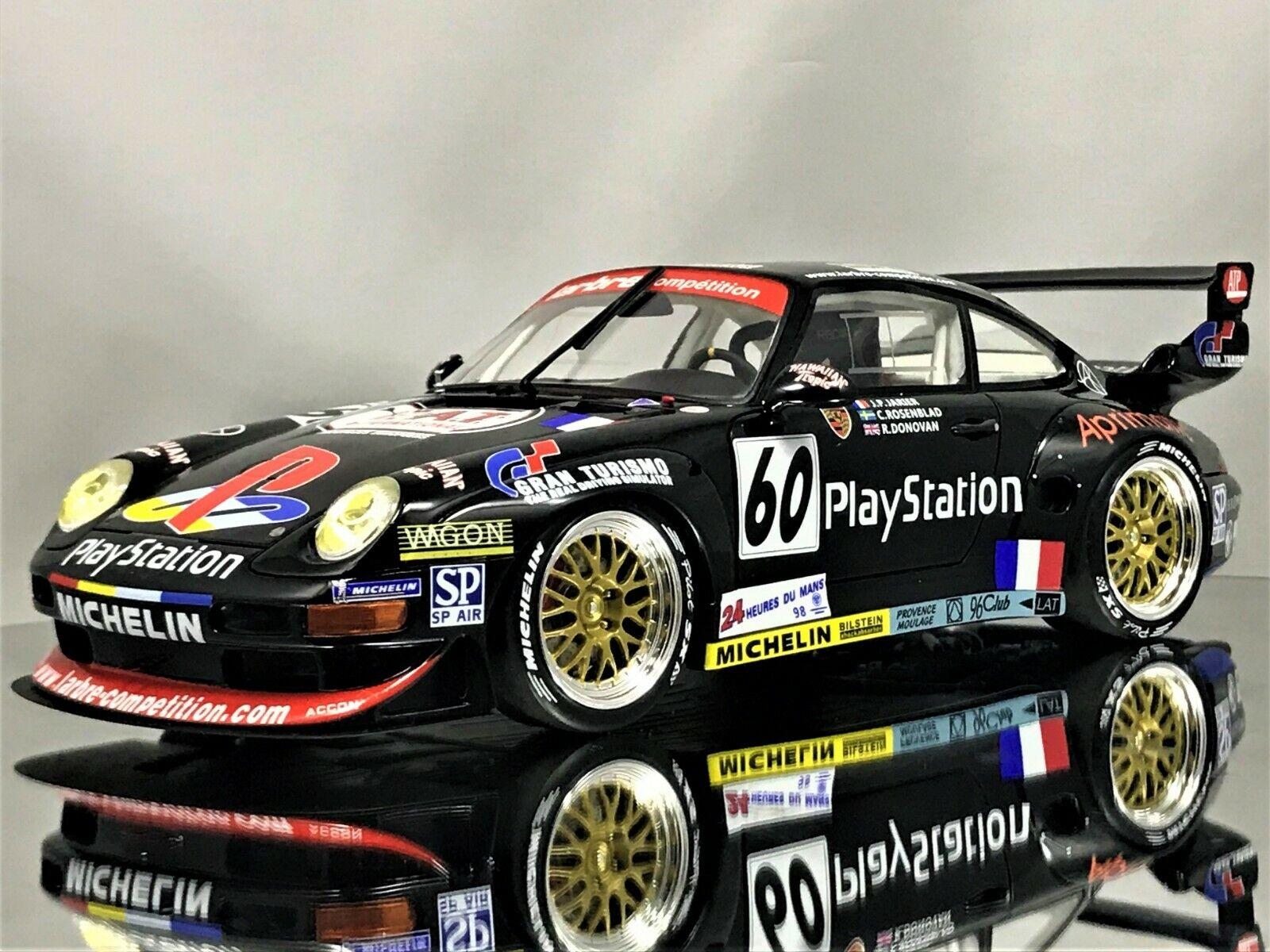 GT anda Porsche 911 (993) GT2 24Hour Le Mans spelaStation Gran Turismo 1 18