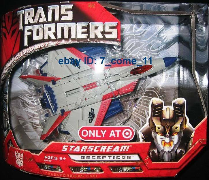 TRANSFORMERS G1 STARSCREAM TARGET EXCLUSIVE WW SHIPPING