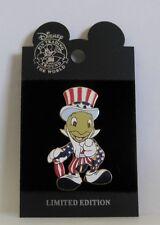 Disney Patriotic Jiminy Cricket Cast Member All American Pin Festival LE Pin HTF