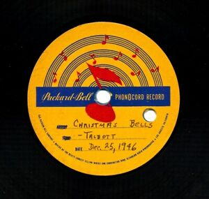TALBOTT-Pianist-on-1946-Packard-Bell-Phonocord-Acetate-Christmas-Bells