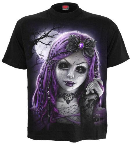 SPIRAL DIRECT GOTH DOLL Front Print T-Shirt//Biker//Sugar Skull//Gift//Tattoo//Top