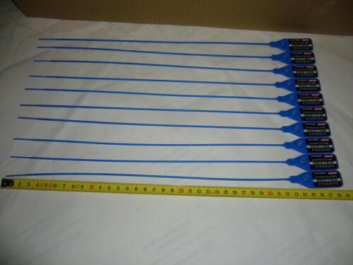 1000 x Sicherheitsplomben Plomben security seals Durchziehplomben Plombe 385mm