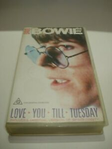 DAVID-BOWIE-LOVE-YOU-TILL-TUESDAY-VHS-VIDEO-TAPE-PAL-FREE-POSTAGE