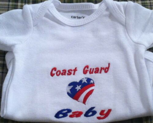 Coast Guard Baby  Baby Bodysuit  Embroidered