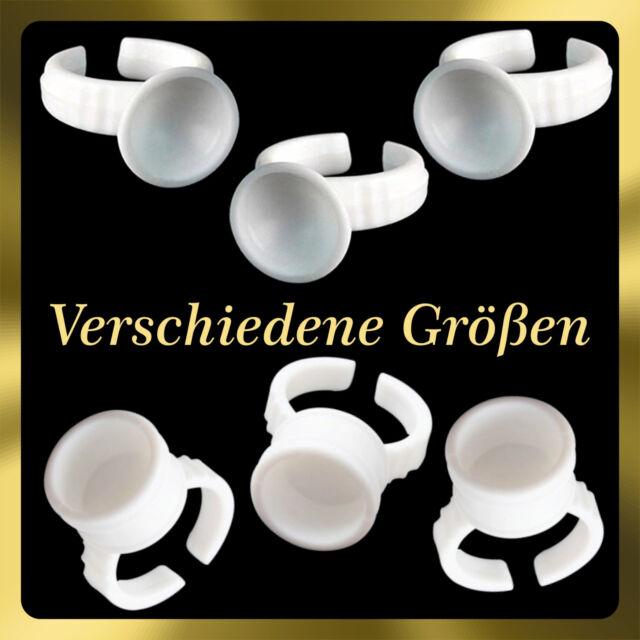 100x Kleber Ring Wimpernverlängerung / Glue Ring / Klebstoffring / Tattoo Halter