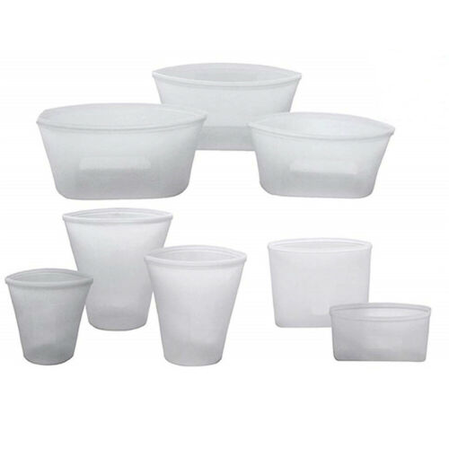 Seal Kitchen Containers Reusable Fresh Bowl Cup Bag Food Storage Bag Silicone