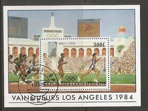 Central-African-Republic-SC-C307-Olympics-184-Los-Angeles-Souvenir-S-MNH