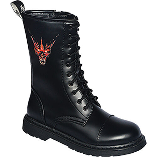 Knightbridge-GOTHIC stivali DARK-creationz RZ-RD Red Devil Stivali Scarpe 37-46