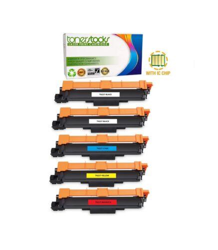5pk TN227 BBCMY Toner Cartridges for Brother HL-L3210CW MFC-L3710CW L3770CDW