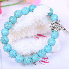 New Beads Fashion Classical Natural Turquoise Cute tibet silver Bracelet Bangles