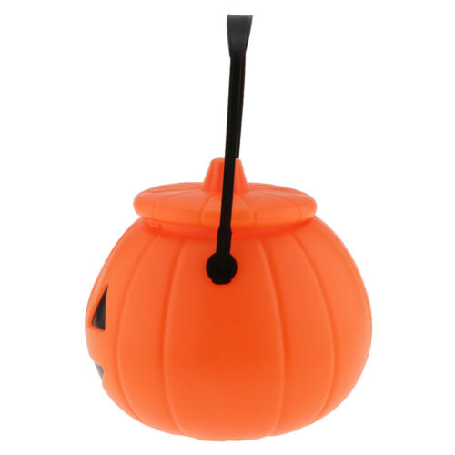 Halloween Pumpkin Bucket Candy Holders Party Favor Table Decoration Props