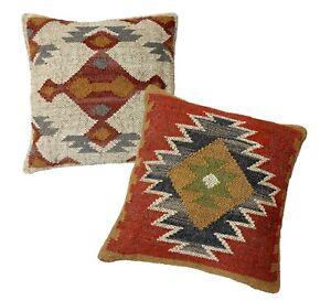 Hand Embroidery Pillow Cover Rug Pillow Case Old Pillow Case Mutlicolor Handmade Pillow Case Handwoven Pillow Case Throw Cushion Cover