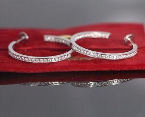 Cartier-18K-White-Gold-1-80ct-Insideout-Round-Diamond-34mm-Hoop-Earrings