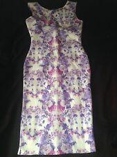 Daisy Street ASOS Body con Pastel Pink Lilac White Floral Dress Size 10 BNWOT