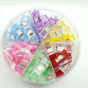 100X Plastic Quilter Holding Wonder Clips Sewing Accessories Tool Quilt Binding