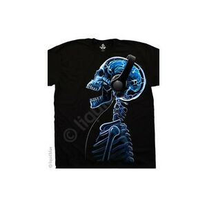 Neue-skelephones-Skelett-Kopfhoerer-T-Shirt