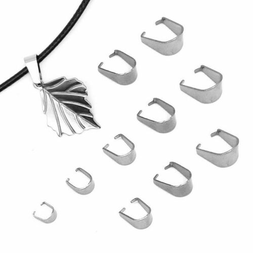 200pcs Clasps Pinch Bails Charm Melon Seeds Buckle Pendant Stainless Steel DIY