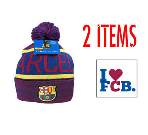 FC Barcelona Official Text Winter Beanie Hat