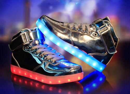 Kinder Jungen Mädchen LED Leuchtende Schuhe Farbwechsel Sneaker Blinkschuhe