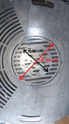 Grill-Einsatz Ø 30 cm Feuerplatte personalisierbar Grillplatte