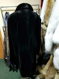 Outstanding New mens fur coat made from real mink fur Long