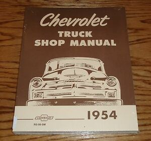 1954 chevrolet truck shop service manual 54 chevy pickup ebay rh ebay com 1957 Chevrolet Truck 1957 Chevrolet Truck