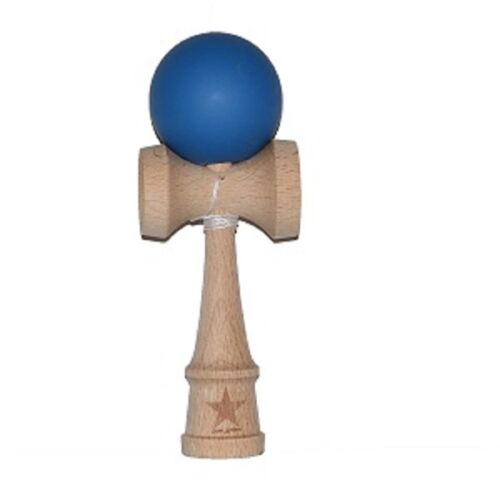Free String,USA Seller Blue Rubberized Kendama,Super Sticky,USA Free Shipping