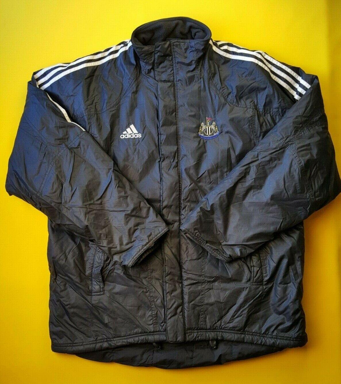 4.8 5 Newcastle United De Colección Retro Chaqueta Tamaño Grande Adidas Fútbol ig93