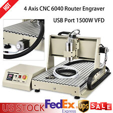 4 Axis Cnc 6040t Router Engraving Machine 1500w Engraver 3d Cutter Water Cooling