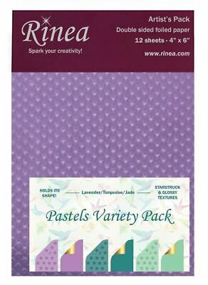 Pastelvariety12 Pastels Foiled Paper Variety Pack