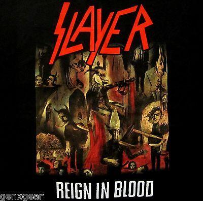 SLAYER cd cvr REIGN IN BLOOD Official Black SHIRT Size MED new