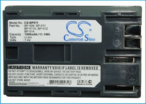 Zr90 Powershot G3 Dm-mv400 Zr30mc Mvx2i Premium Batería para Canon Eos D30