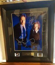 X-FILES David Duchovny & Gillian Anderson autografo con cornice e fotogrammi